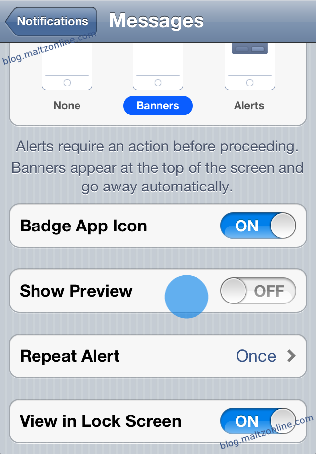 hide message preview iphone how to disable message previews for imessage and sms on 14266
